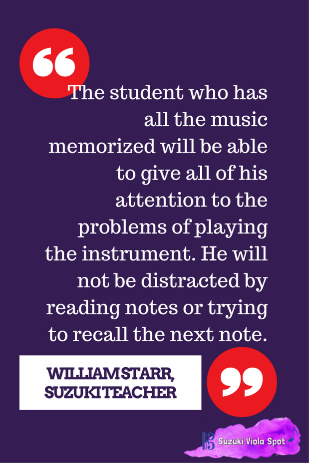 The student who has all the music memorized will be able to give all of his attention to the problems of playing the instrument. He will not be distracted by reading notes or trying to r