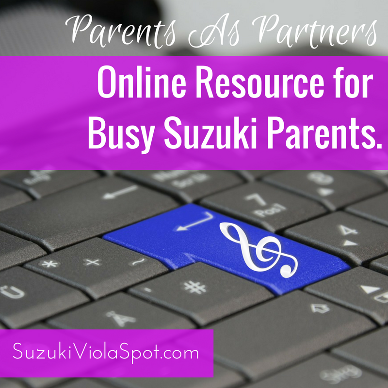 Online Resource for Busy Suzuki Parents