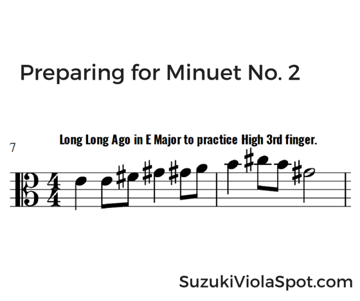 Preparing for Minuet No. 2