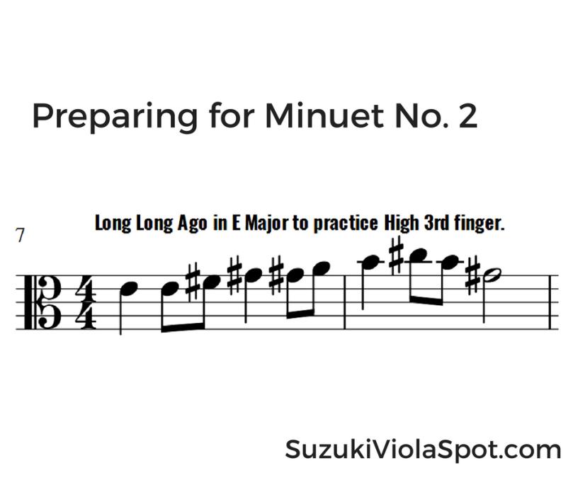 Preparing for Minuet No. 2