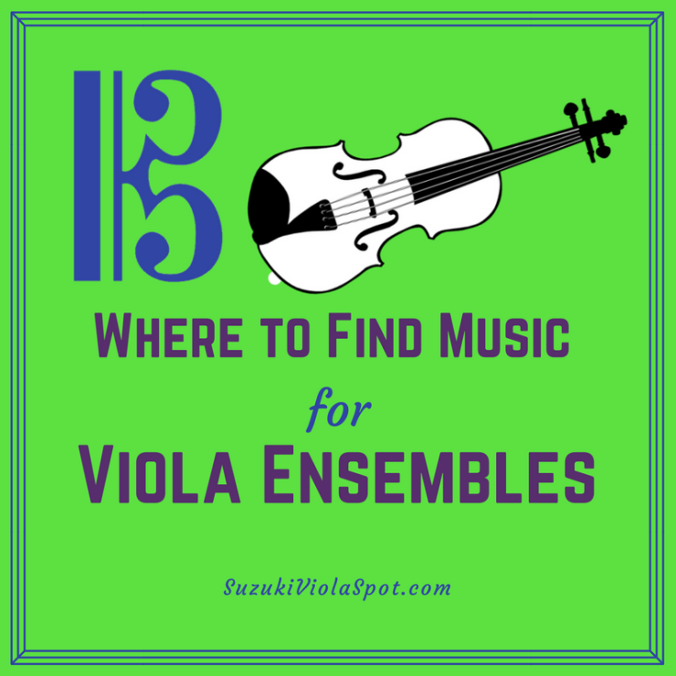 Where to find music for viola ensembles.