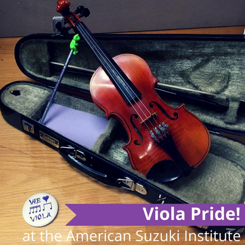 Viola Pride at the American Suzuki Institute