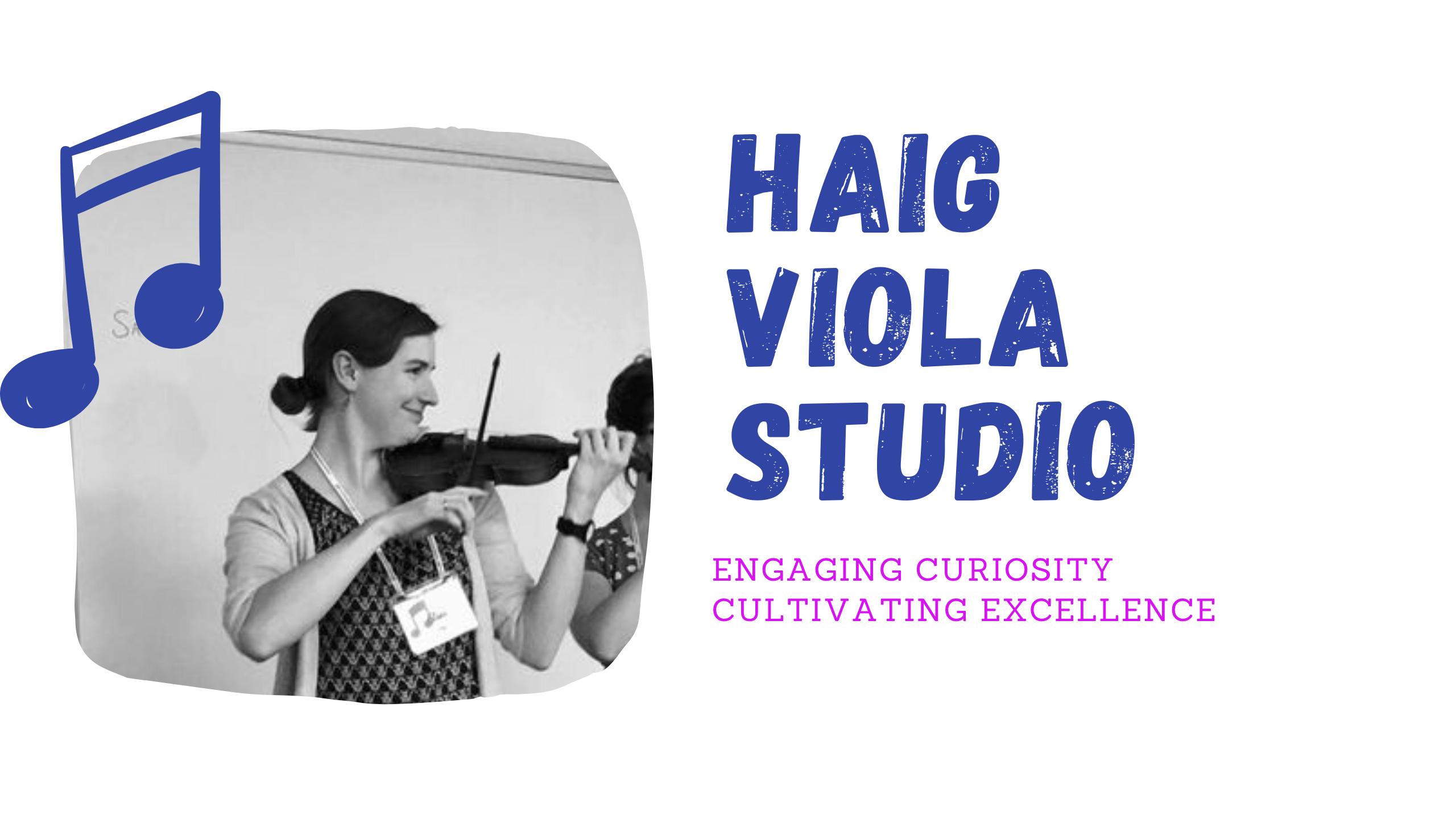 Eliana Haig Viola Studio